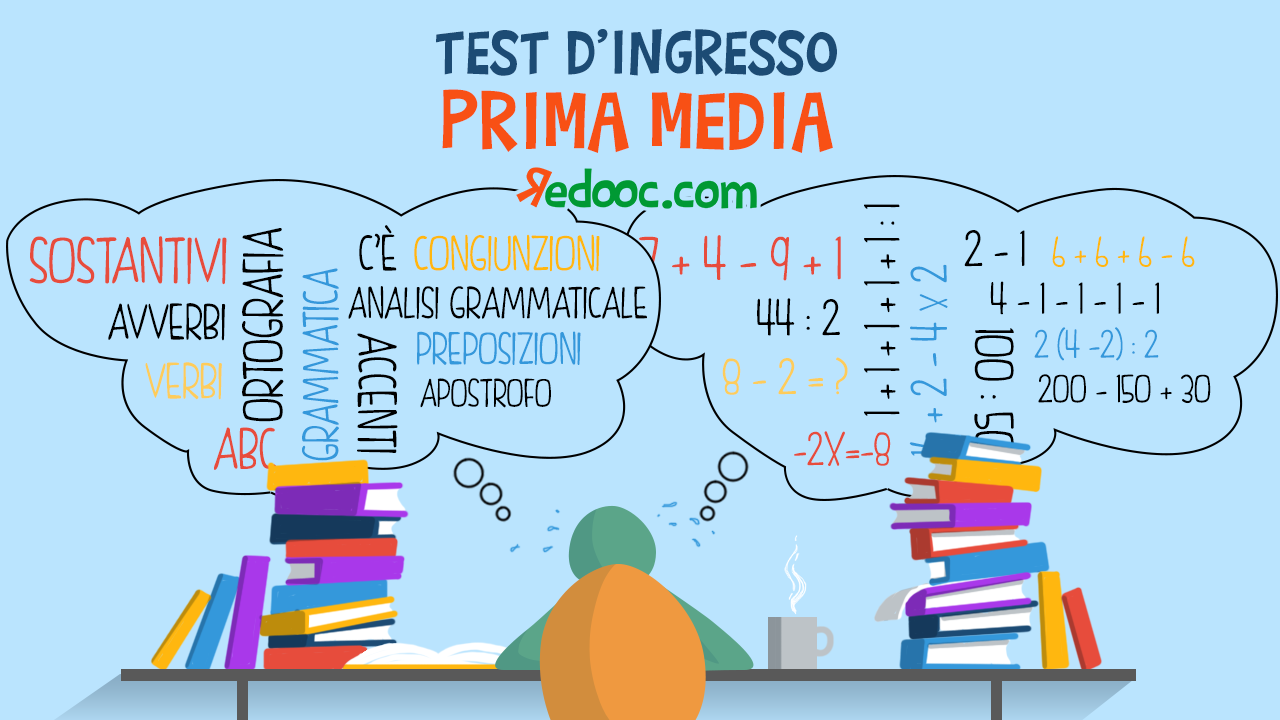 test ingresso prima media